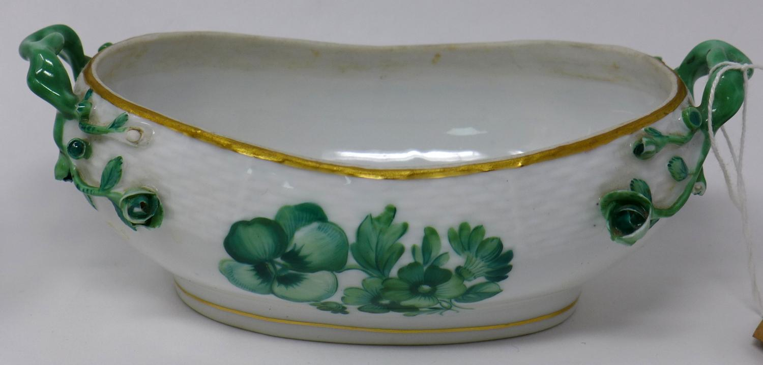 Lot 46 - Three Herend porcelain dishes and a Herend vase