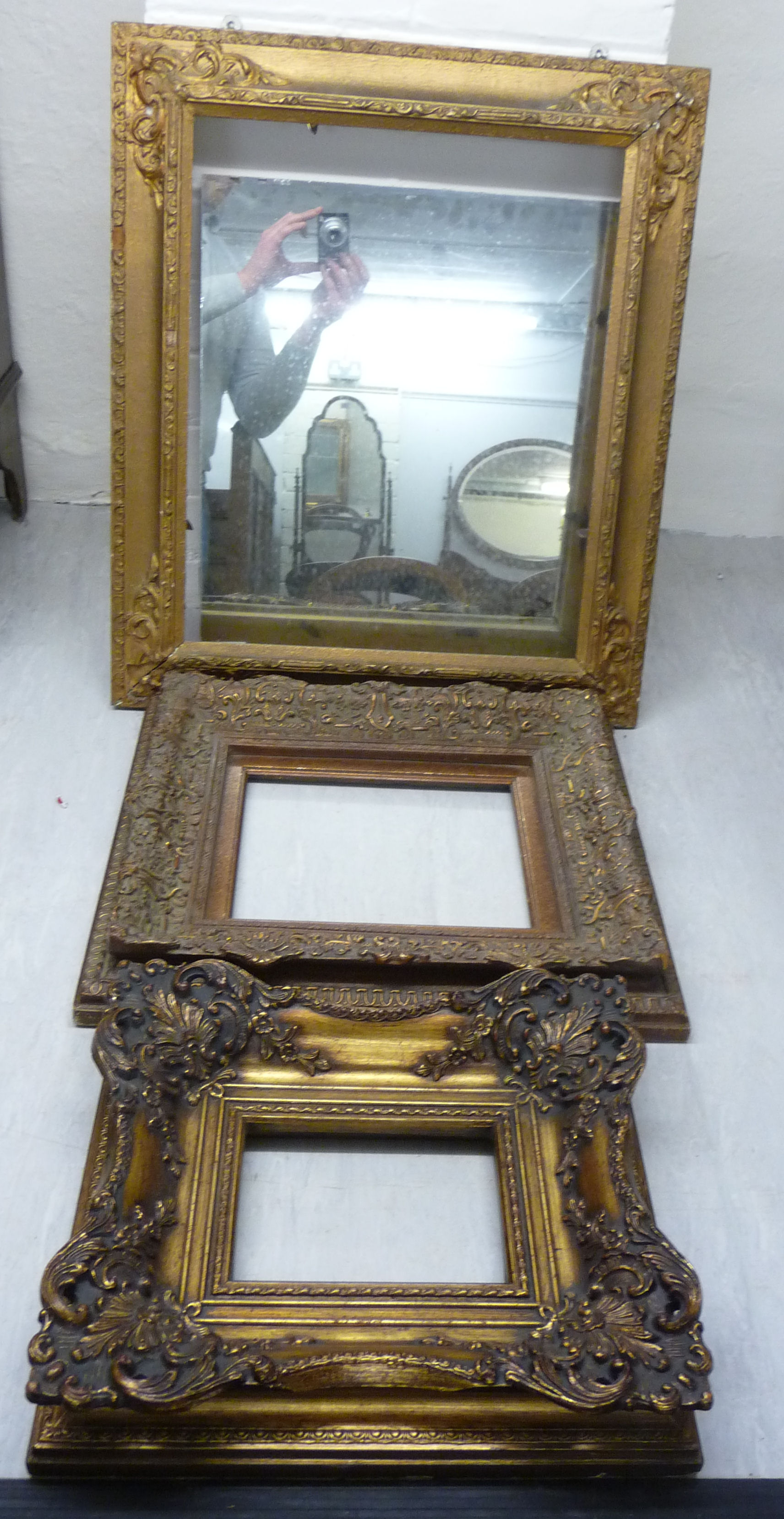 Lot 110 - A late 19thC mirror,