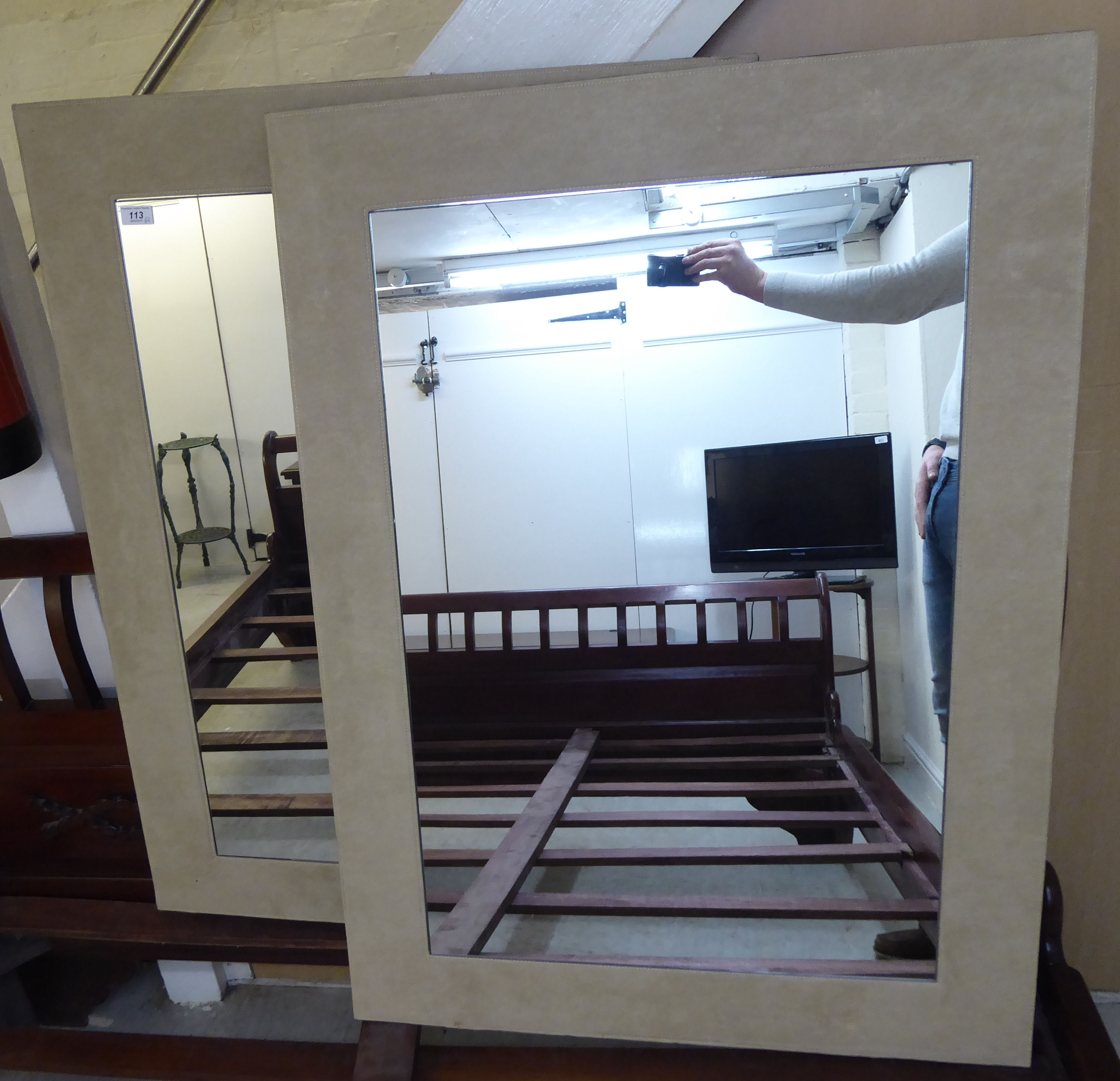 Lot 113 - A pair of modern mirrors,