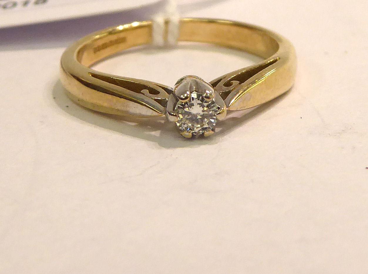 Lot 17 - A 9ct gold single stone diamond ring 11