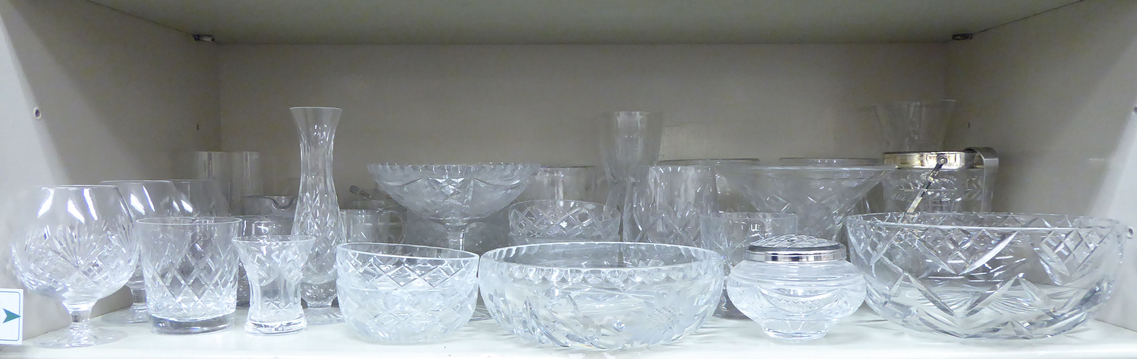 Lot 93 - Cut crystal glassware: to include tumblers,