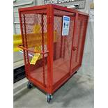 PORTABLE LP BOTTLE CAGE, 41'' X 29'' X 48'' STORAGE AREA, SIDE BY SIDE LATCHED DOOR