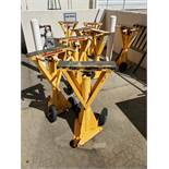 (8) ULINE TRAILER STABILIZING JACK STANDS, 100,000 LB STATIC CAPACITY, 50,000 LB LIFTING CAPACITY