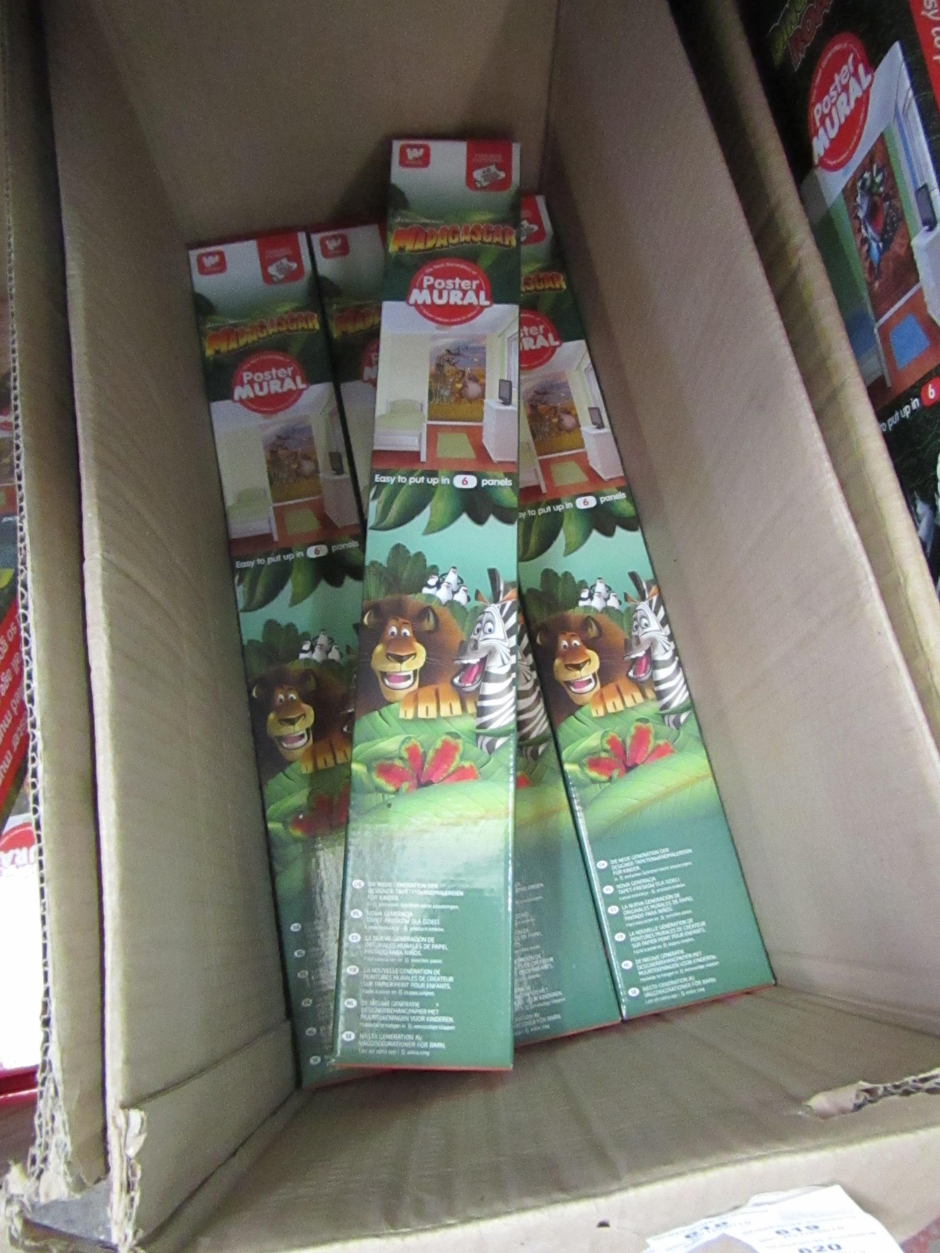 Lot 618 - Madagascar mural poster, new and boxed.