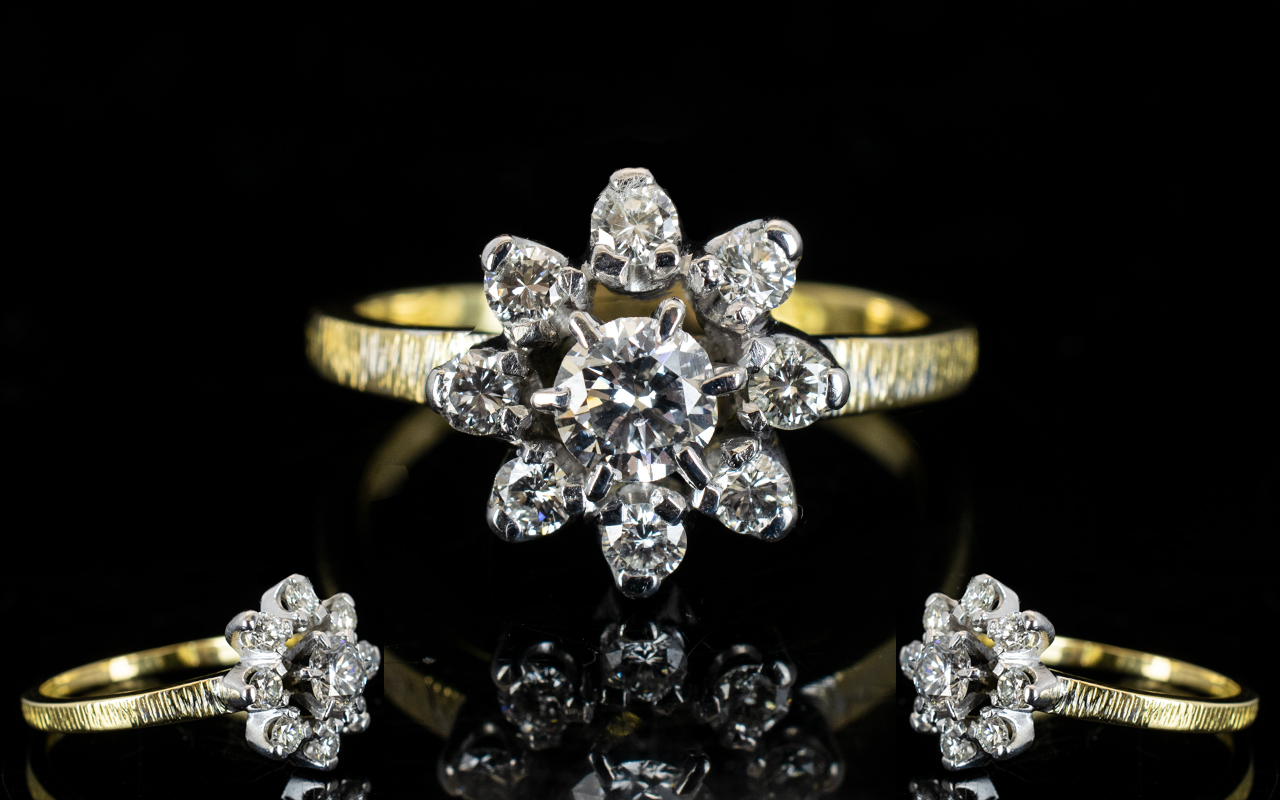 Lot 15 - Ladies - Superb Quality 18ct Yellow / Wh