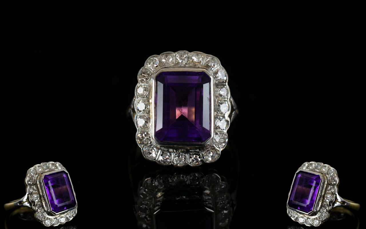 Lot 50 - 18ct Gold - Superb Quality Amethyst and