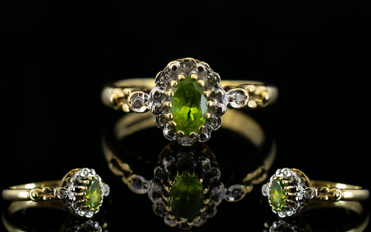 Lot 88 - Ladies - Fancy Shank 9ct Gold Peridot an