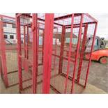 DOUBLE GAS BOTTLE STORAGE CAGE 1.2M X 1.8M X 1.15M HEIGHT APPROX NO VAT ON HAMMER PRICE