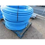 3 X 100METRE LENGTH ROLLS OF BLUE 32MM WATER PIPE
