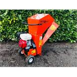 BEARCAT 70380 PETROL ENGINED SHREDDER WITH 8HP ENGINE, LITTLE PREVIOUS USEAGE. WHEN TESTED WAS