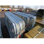 24 X STEEL PEDESTRIAN CROWD BARRIERS This items is being item sold under AMS…no vat will be on