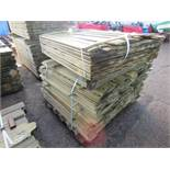 1 X PACK OF SHIPLAP CLADDING TIMBER 1.11M X 10CM WIDTH APPROX