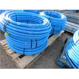 6 X 50METRE LENGTH ROLLS OF BLUE 32MM WATER PIPE