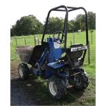 ROUGHNECK +4 TYPE HIGH TIP COMPACT SIZED DUMPER SUPPLIED WITH TOWING EQUIPMENT AS SHOWN. VENDOR'S