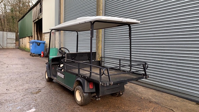 Lot 11 - CUSHMAN EZGO SHUTTLE 2 PETROL ENGINED LOADMASTER GOLF / EVENTS TRANSPORT BUGGY. YEAR 2016 BUILD.