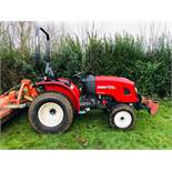 BRANSON F47HN COMPACT TRACTOR ON TURF TYRES, HYDROSTATIC DRIVE, 47HP, ROAD REGISTERED 67 REG WITH