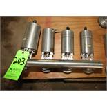 (4) S/S Air Actuated S/S Butterfly Valves in Manifold