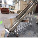 """10 ft L Portable Inclined S/S Power Auger Conveyor, with 8"""" S/S Auger, Electric Drive Motor"""