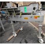 """Key Iso Flo - 6 ft L x 30"""" W S/S Vibratory Shaker Deck / Inspection Table, Mounted on 41"""" H Frame on"""