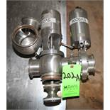 """WCB 3"""" 3 - Way S/S Air Valve with Air Actuated Butterfly Valve, Clamp Type"""