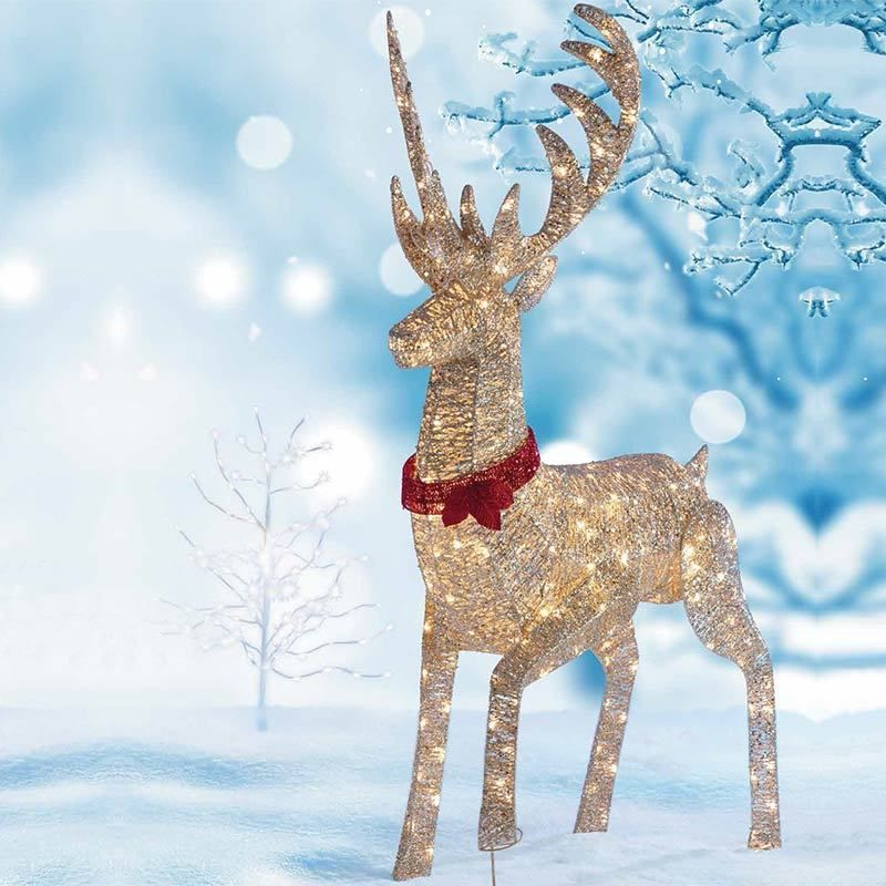 Christmas Outdoor Decoration Pre Lit Reindeer Stag 240 Led