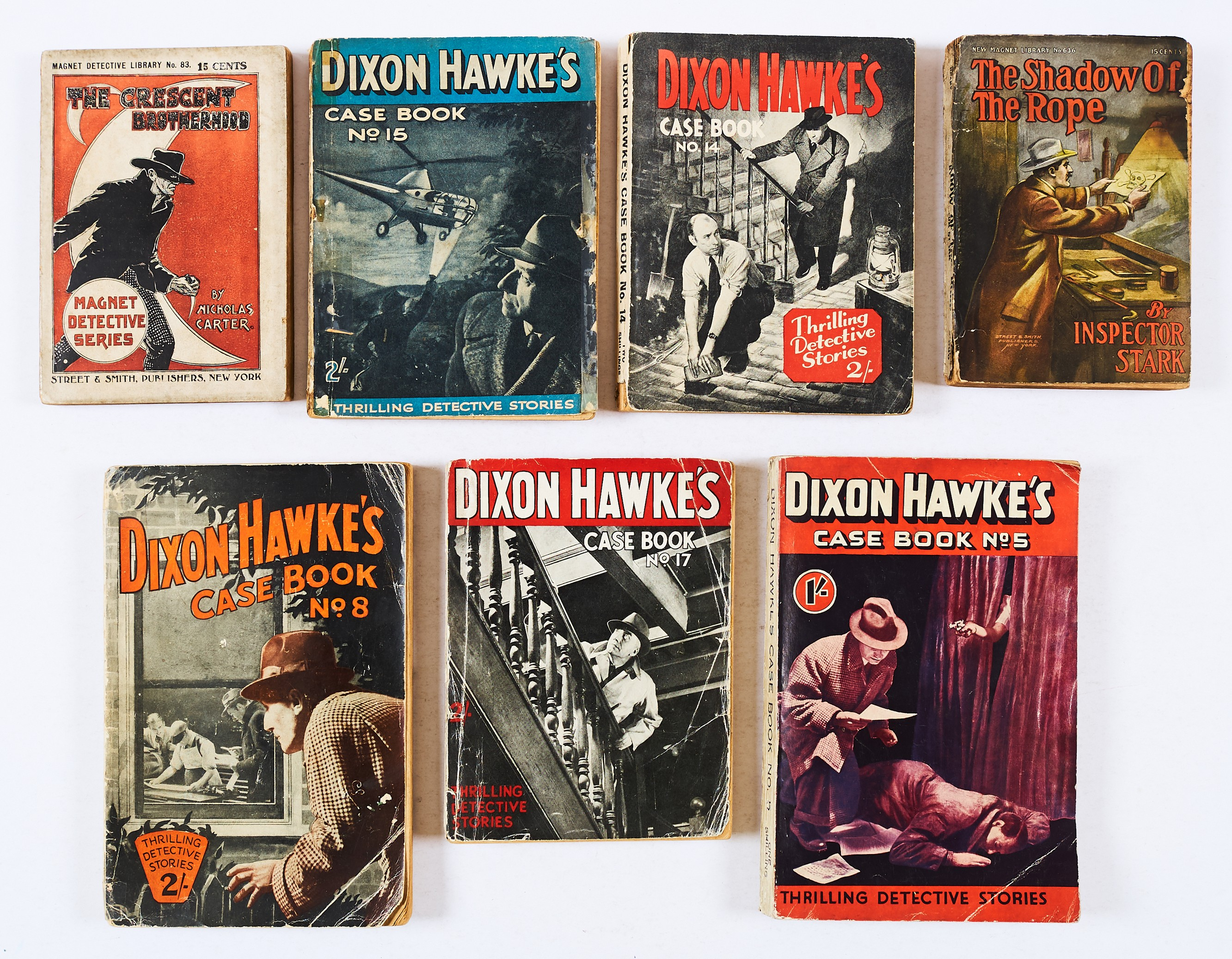 Lot 41 - Dixon Hawke's Case Book (1940s-50s D.C. Thomson) 5, 8, 14, 15, 17. With Magnet Detective Library (