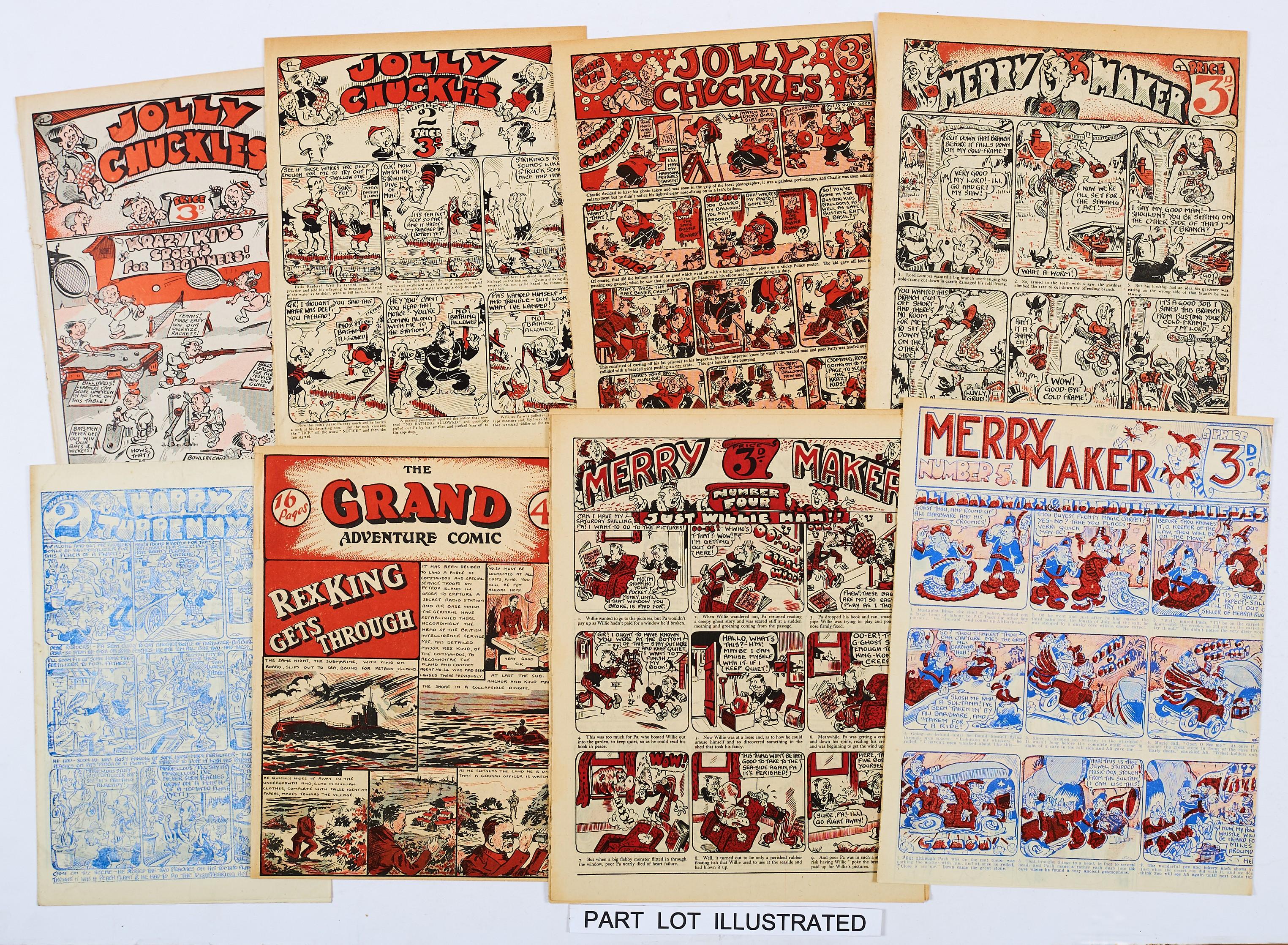 Lot 46 - Merry Maker (J. Matthews 1940s) 1-7, 9, 10, Jolly Chuckles (Martin & Reid 1940s) 1-11, From the