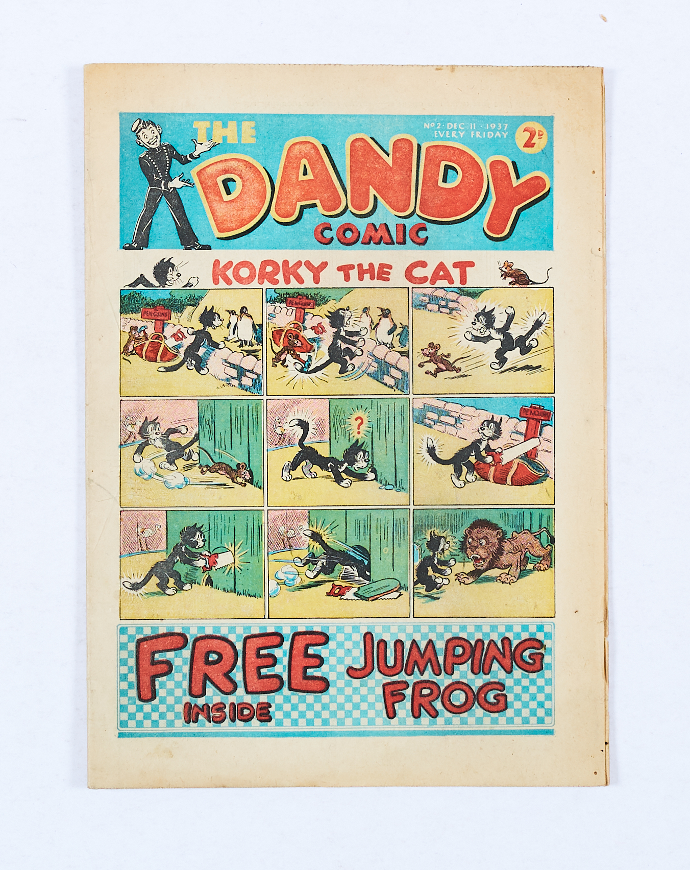 Lot 16 - Dandy Comic No 2 (1937). Bright cover colours, cream pages, three rust marks to back cover with