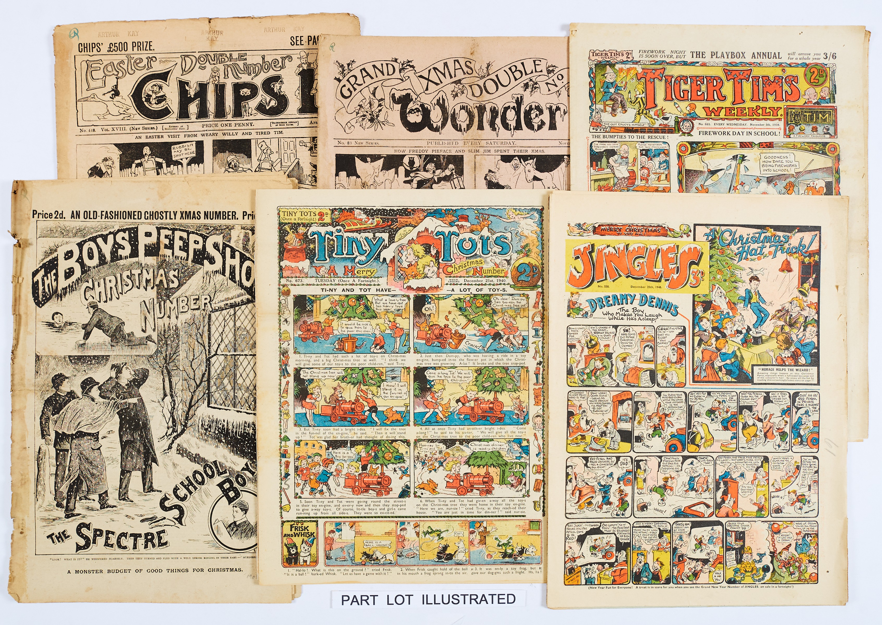 Lot 1 - Christmas and Special Numbers (1899-1948). Boys Peep Show Xmas Number (two small cut-outs [gd-] (