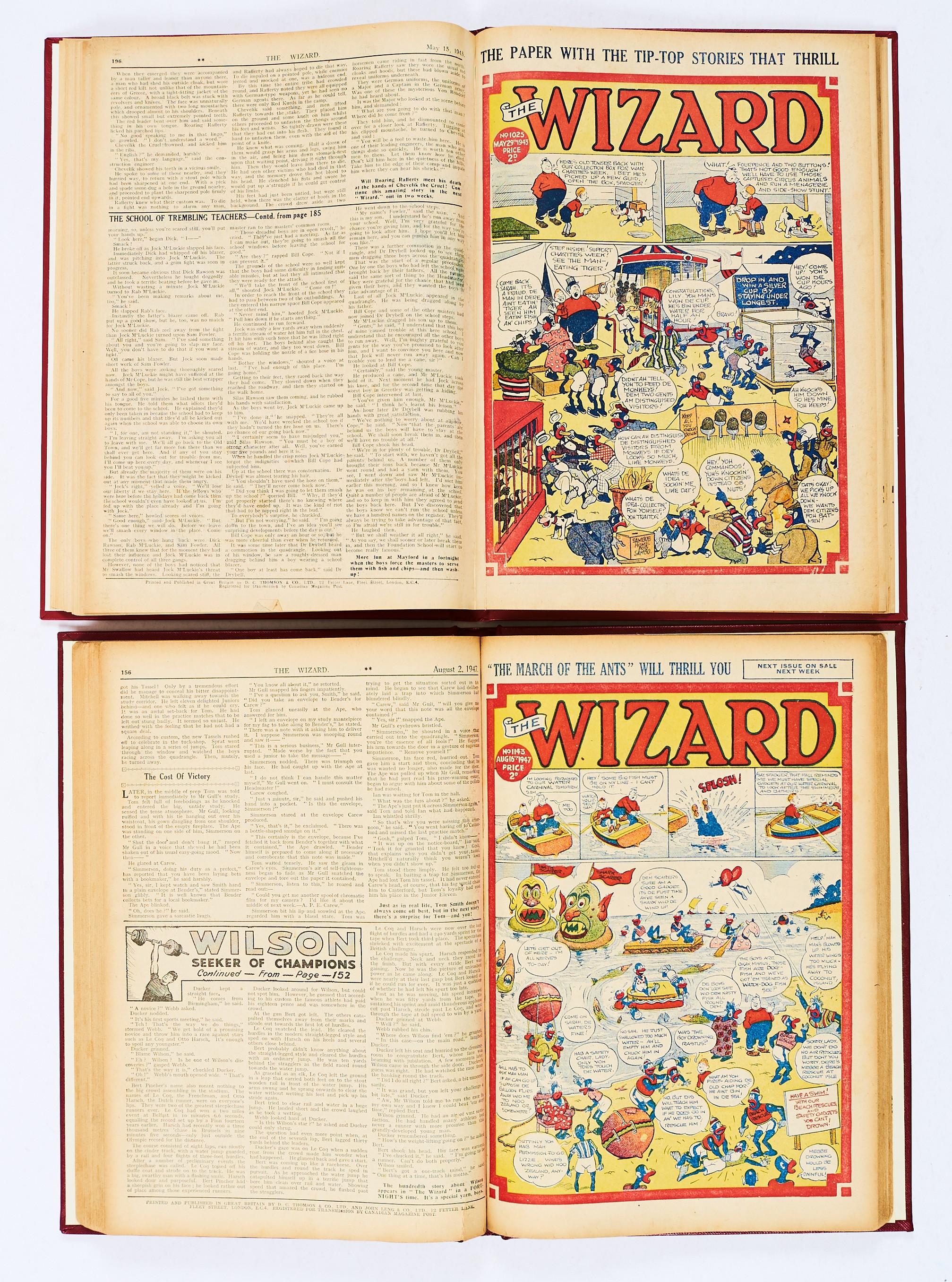 Lot 39 - Wizard (Jan-Jun 1943) 1015-1027. Half-year of propaganda war issues. With Wizard (Mar-Oct 1947)