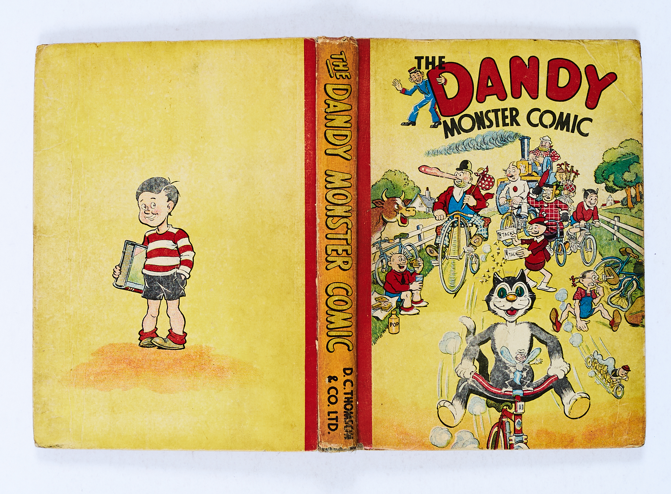 Lot 21 - Dandy Monster Comic (1943). Korky's Bicycle Race. Some wear to boards with sunned spine, no
