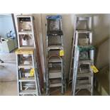 4 FT., 5 FT., AND 6 FT. ALUMINUM A-FRAME LADDERS