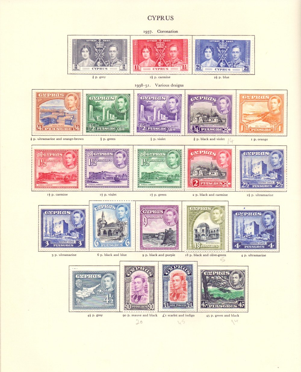 Lot 3 - BRITISH COMMONWEALTH STAMPS : George VI Red Crown Album, reasonably well filled mint and used,