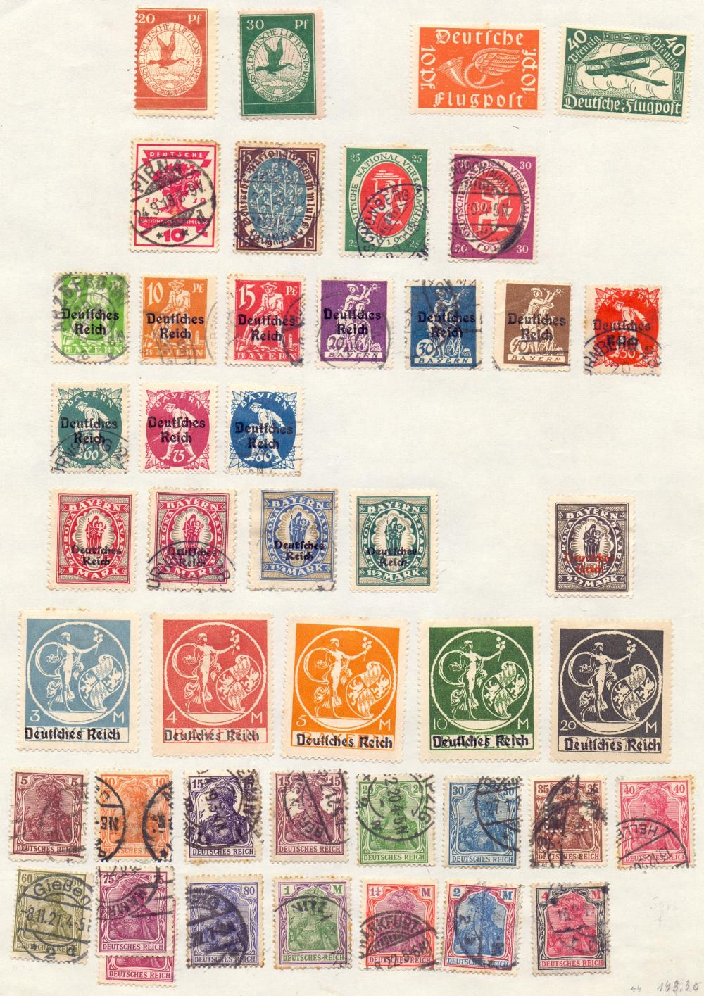 Lot 21 - STAMPS : WORLD, collection on pages with strength in Germany & territories, also useful Spain,