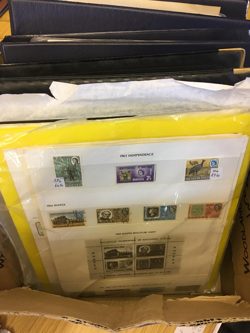 Lot 37 - STAMPS : Three albums plus album pages of Zimbabwe issues used