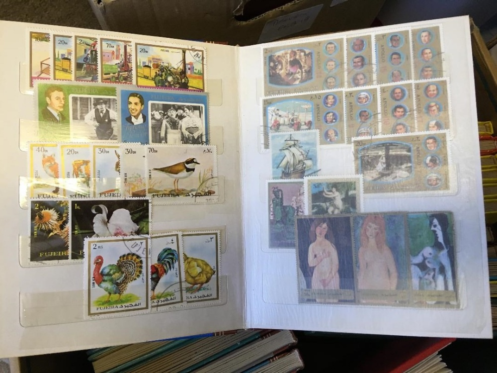 Lot 43 - STAMPS : CHARITY LOT : large box of various albums, GB Booklets, Australia, New Zealand, All World,