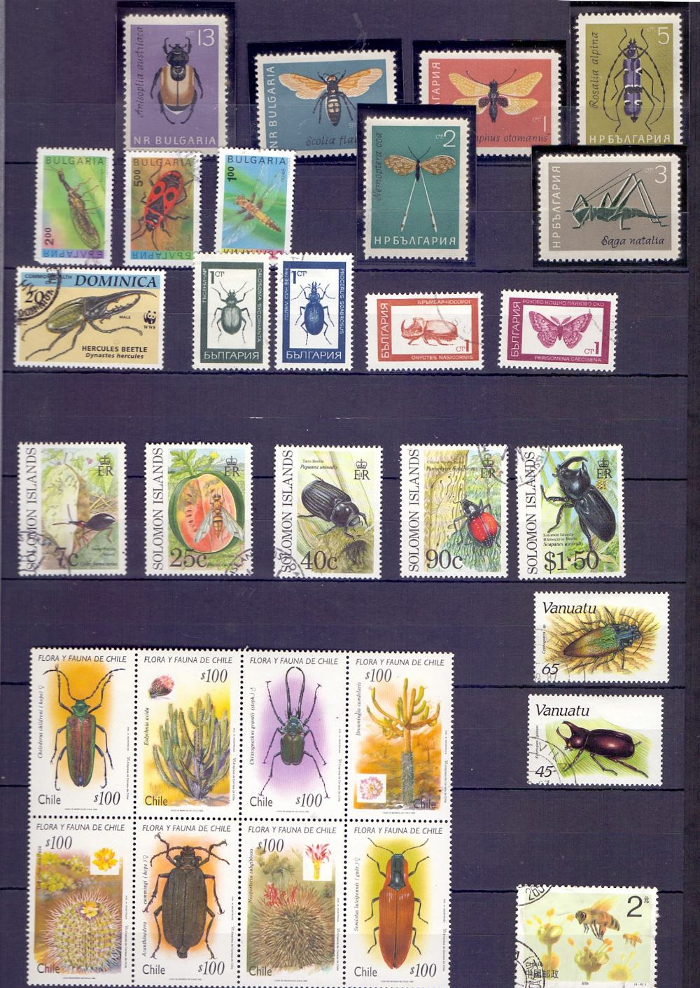 Lot 56 - STAMPS : Black stock-book of insects and butterflies thematic stamps