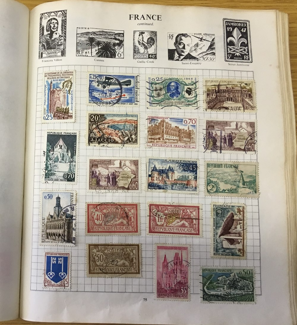 STAMPS : CHARITY LOT: Red Strand album 1966 edition, pretty full (100's ) including China etc, - Image 3 of 6