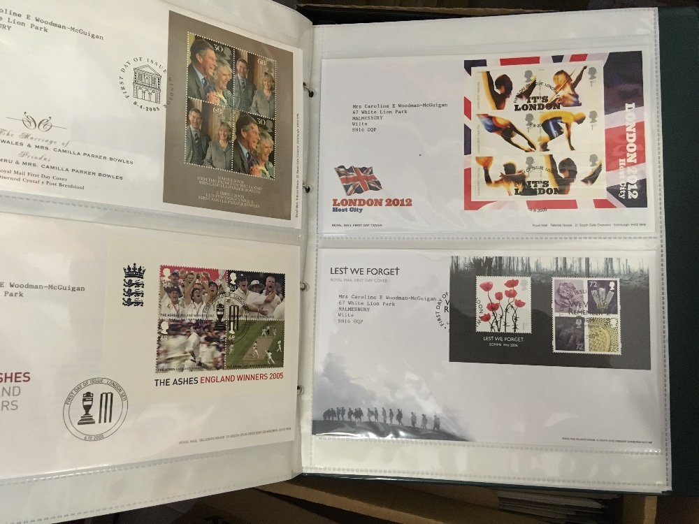 Lot 25 - STAMPS : Glory box of mixed albums, including GB face value,