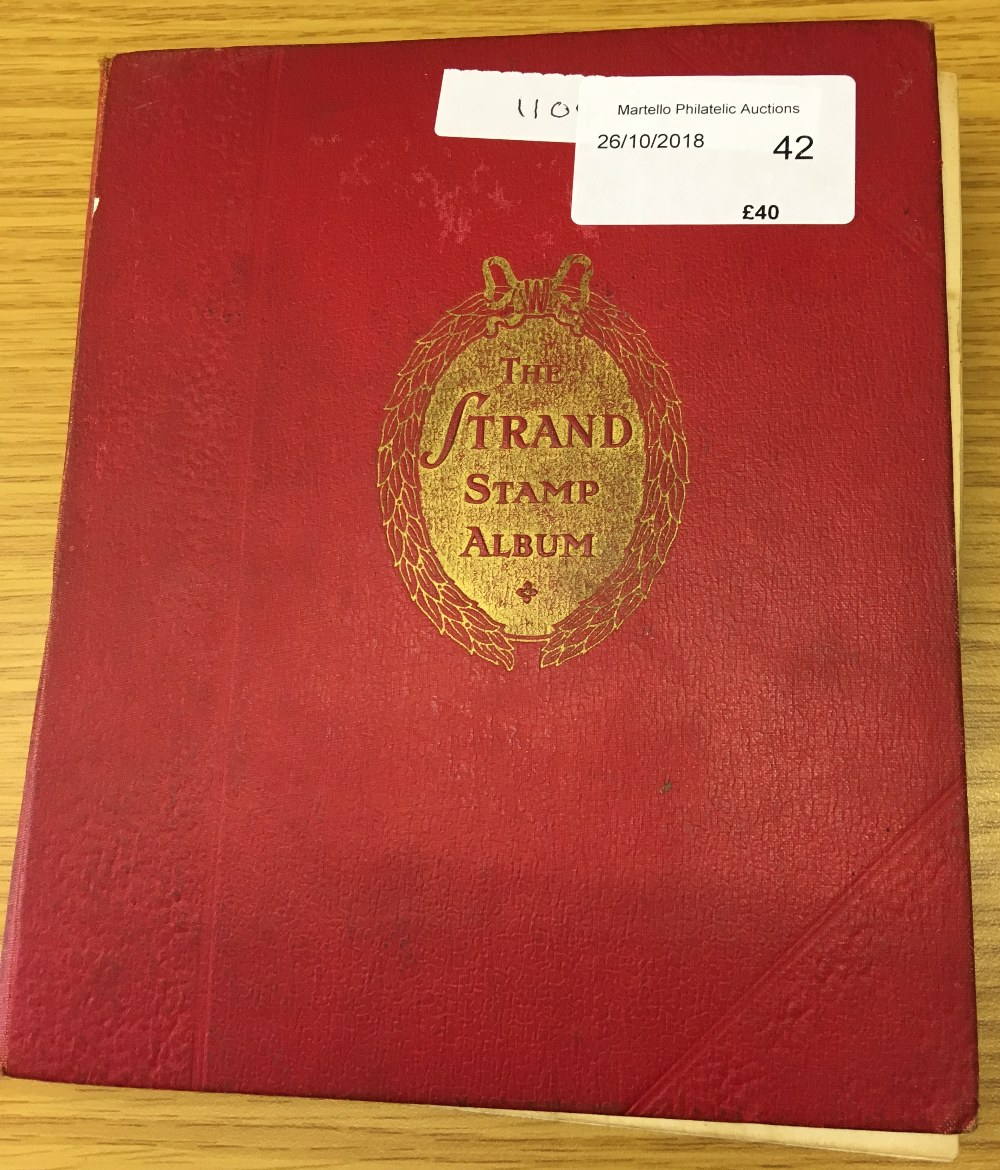 STAMPS : CHARITY LOT: Red Strand album 1966 edition, pretty full (100's ) including China etc,