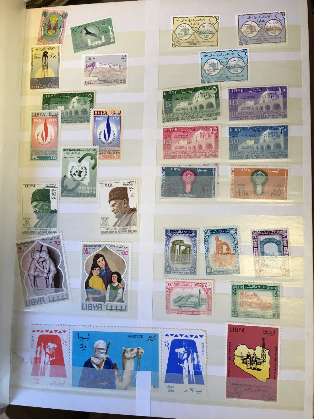 Lot 50 - STAMPS : Two stock books with World stamps,