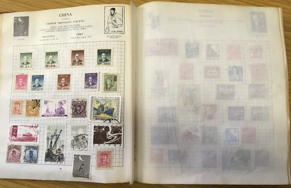 STAMPS : CHARITY LOT: Red Strand album 1966 edition, pretty full (100's ) including China etc, - Image 5 of 6