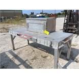 ALUMINUM WORKBENCH, SHOP MADE, w/cabinet (Location 1: FlexDecks, Inc., 14325 West Hardy Road,
