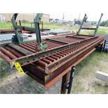 LOT CONSISTING OF: (6) roller conveyors w/(3) custom roller tables, approx. 8'W. x approx. 14'L. H.