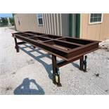 STEEL WELDING TABLE, SHOP MADE (Location 1: FlexDecks, Inc., 14325 West Hardy Road, Houston, TX