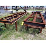 """LOT OF WELDING & SET-UP TABLES (4), 168""""L. x 40""""W., I-beam construction, H.D. (Location 1:"""