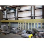 LOT OF ELECTRIFIED SPRAY PAINT FILTER WALLS, (3) 14'W. X 3-1/2' DP. X 7' HT., (3) extraction