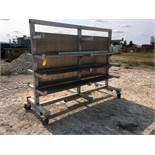 LOT CONSISTING OF: Shop Made aluminum rolling rack & shelf unit (Location 1: FlexDecks, Inc.,