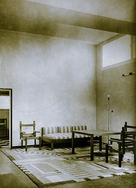 Bauhaus Weimar Haus Am Horn Wohnzimmer Original Photographie