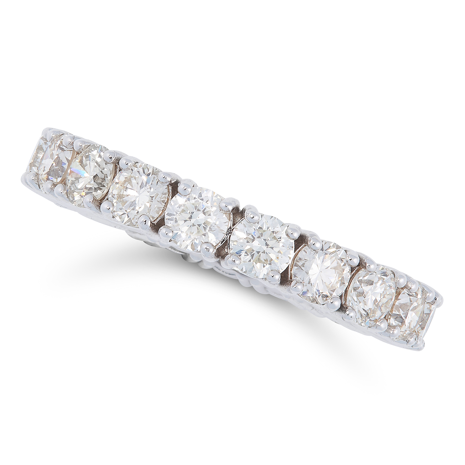 Los 67 - A 3.18 CARAT DIAMOND ETERNITY RING designed as a full eternity ring set with 3.18 carats of round